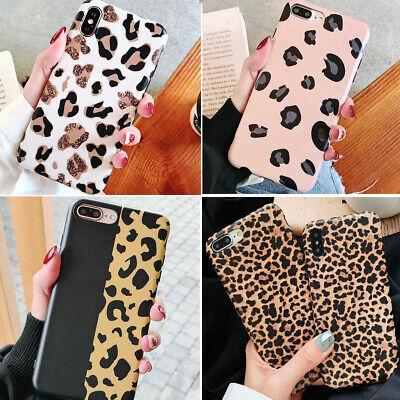 Iphone 11 Pro MAX 8 Plus XS Max XR Slim Leopard Print Cute Girl Phone Case Cover