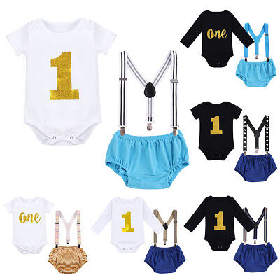 Baby Boy Cake Smash 1st Birthday Outfits ONE Year Photography Photo Prop Costume](1st Birthday Boy Outfits)