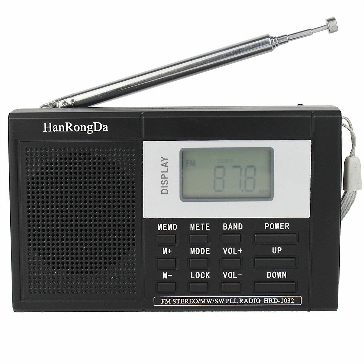 portable dsp fm mw sw band radio shortwave receiver. Black Bedroom Furniture Sets. Home Design Ideas