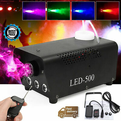 Profession 500W RGB LED Fog Smoke Machine DJ Stage Effect Light Wireless Remote - Fog Machine Remote