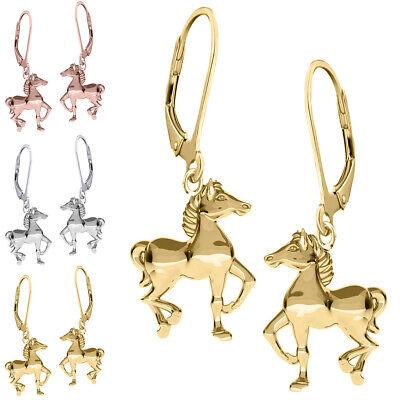 Brisur Ohrhänger Pferd Pferde Ohrringe 925 Sterling Silber für Kinder Mädchen (Ohrringe Für Kinder)