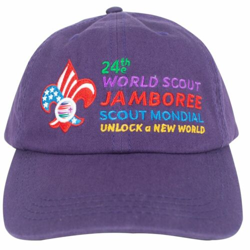 Boy Scout 2019 World Jamboree Adjustable Hat Cap USA Contingent Cap Embroidered