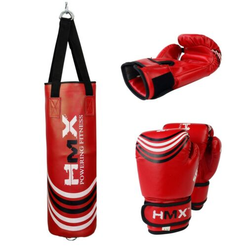 Grappling Kickboxing Punching MMA Muay Thai Martial Arts Junior Heavy Bag Set VELO Kids Punch Bag with 6 ounce Boxing Gloves for Youth Boxing Training