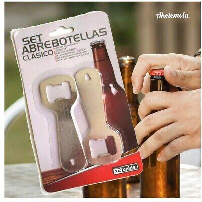 2 x Abridor de botellas cerveza refrescos metálico