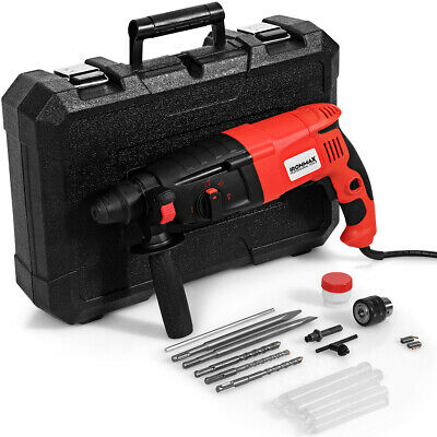 Ironmax 12 Electric Rotary Hammer Drill 3 Mode Sds-plus Chisel Kit 1100w Wbit