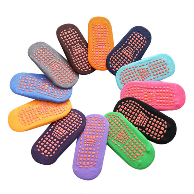 10 Pairs Pure Cotton Anti-slip Non Skid Baby Toddlers Grips Floor Walking Socks