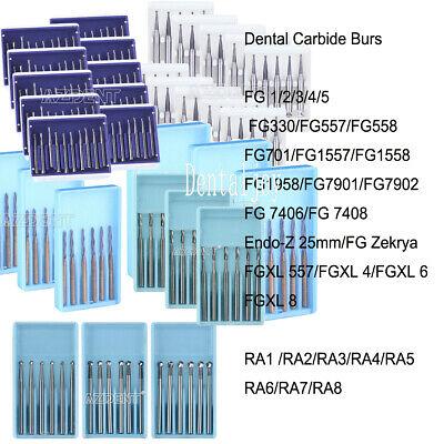 Dental Carbide Burs Fgendofgxlra For Highlow Speed Handpiece Tungsten Steel