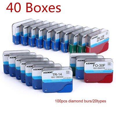 Usps 40 Boxes 200pcs Dental Fg Diamond Burs For High Speed Handpiece Medium Fg