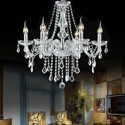 Vintage Ceiling lights Lamp lighting Fixture Crystal Chandelier+6 Arms Pendant