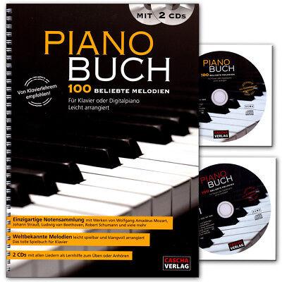 Piano Buch - 100 beliebtesten Melodien für Klavier und Digitalpiano mit 2 CDs