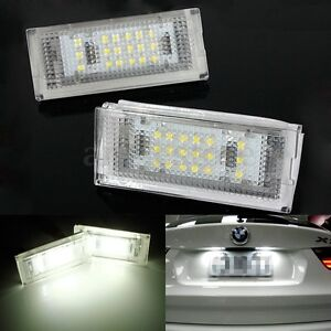 2X Error Free LED Number License Plate Light for BMW E46 4D 4Doors 6000K HID USA