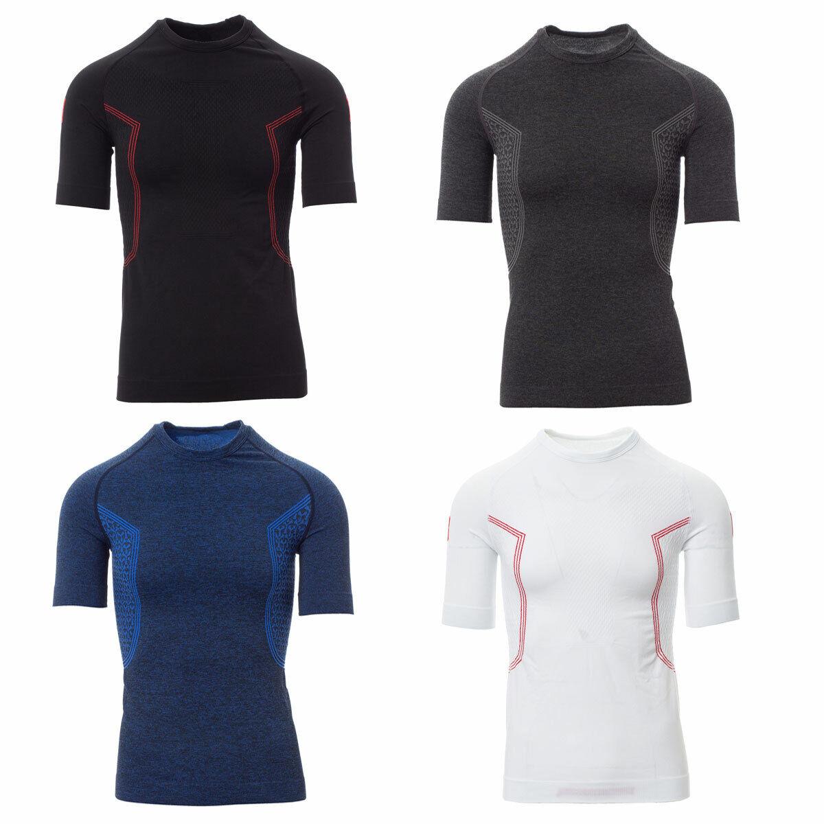 Herren Kompressionsshirt Funktionsshirt T-Shirt Kurzarm Rundhals Thermoshirt