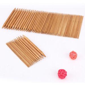 75 x Stricknadeln Bambus Nadelspiel Bambusstricknadeln Set in 15 Größen