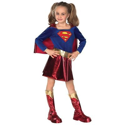 Supergirl Costume Kids Superwoman Halloween Fancy Dress Size Large 12-14 Dress