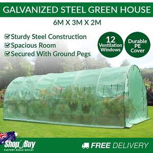 Free Delivery: Garden Walk In Greenhouse 6Mx3Mx2M Plant House De Box Hill Whitehorse Area Preview