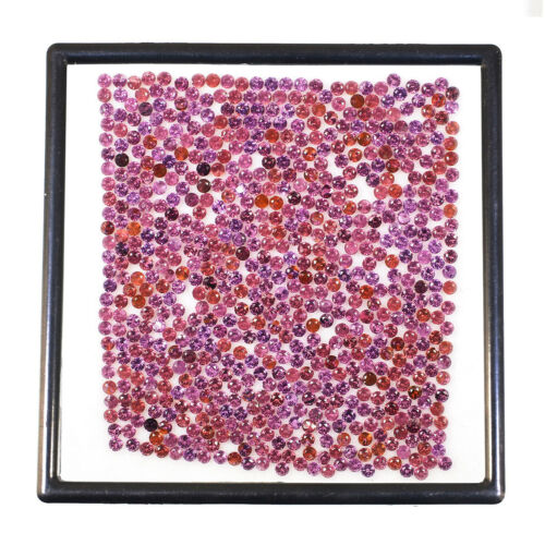 675 Pcs Natural Rhodolite Garnet 2mm Round Top Quality Lusturous Gemstones Lot