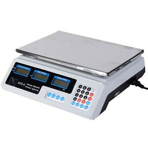 Commercial Grade Digital Food Meat Cheese Deli Scale Pricing Computer Retail