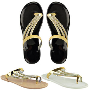 WOMENS-LADIES-DIAMANTE-JELLY-SANDALS-SUMMER-FLIP-FLOPS-TOE-POST-THONG-SHOES-SIZE