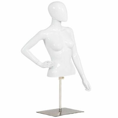 Female Mannequin Realistic Man Half Body Head Turn Dress Form Display W Base