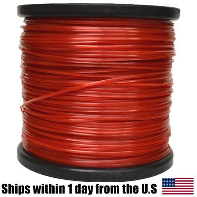 095 Trimmer (5lb .095 Square Red Commercial Trimmer Line Spool Roll Fits Echo Stihl Redmax )