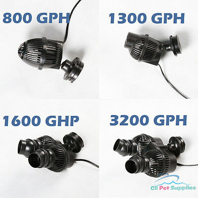 800/1300/1600/3200 GPH Circulation Pump Wave Maker Aquarium Reef Powerhead