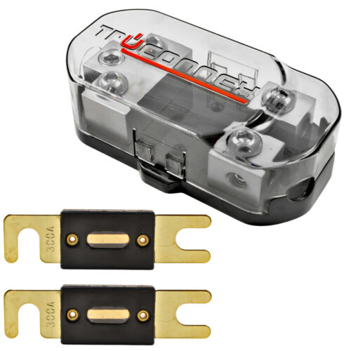 1/0 2 4 8 Gauge Dual ANL Fuse Holder Distribution Block and (2) 300 Amp ANL Fuse