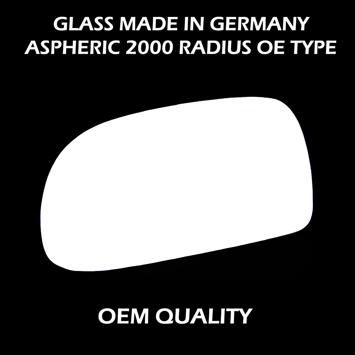 Volvo 940  Wing Mirror Glass Fits Reg   1990 to 1997 LHS heated base