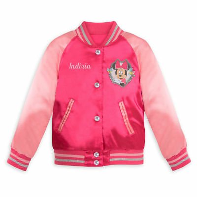 Kid Store Names (NWT Disney Store Minnie Mouse Varsity Jacket Girl 5/6 7/8 9/10 no name on)