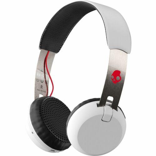 Skullcandy GRIND Wireless Headband Headsets-Refurb-WHITE