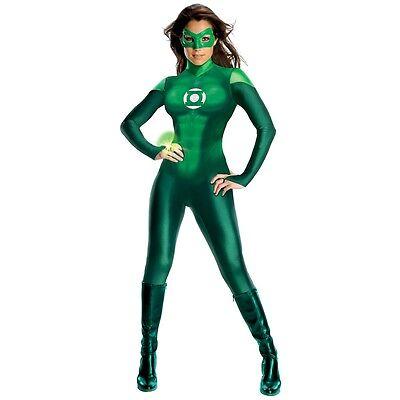 Green Lantern Costume Adult Female Superhero Halloween Fancy Dress - Female Green Lantern Halloween Costume
