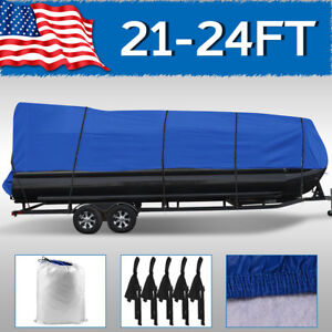 21' 22' 23' 24' ft Pontoon Boat Cover Non-Abrasive Lining Heavy Duty Beam 102