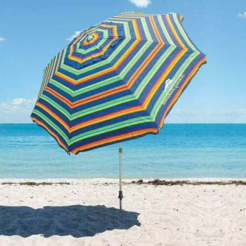 Tommy Bahama 8ft Beach Umbrella w/Sand Anchor Telescoping Pole- Multi Color -New