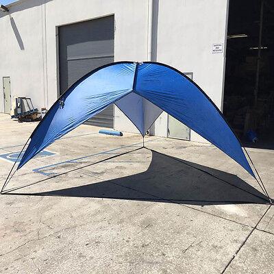 Blue Beach Tent Shelter Sun Shade Outdoor UV Pop up 16'x16'x16' Cabana