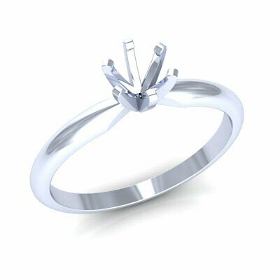 14k Gold 6-Prong Classic Solitaire Engagement Ring Setting For Women Round Stone 6 Prong Round Ring Setting