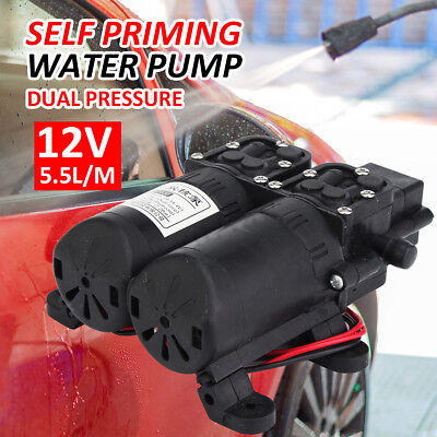 12v 105psi Diaphrag Electric Water Pump Self Priming High Pressure Spray Black