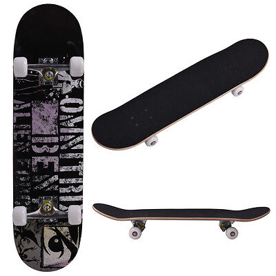 "31"" x 8"" Professional Adult Maple Deck Skateboard Complete Wheel Trucks  Wood"