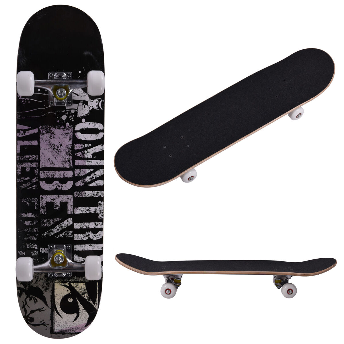 31\ x 8\ Professional Adult Maple Deck Skateboard Complete Wheel Trucks Wood