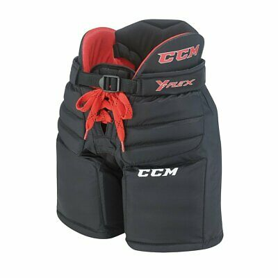 New CCM YFlex Ice Hockey Goalie Pants Youth L/XL Black goaltender equipment goal ()