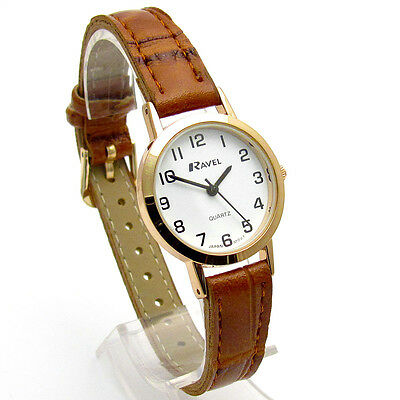 Ravel Ladies Super-Clear Easy Read Quartz Watch White Face R0102.14.2A