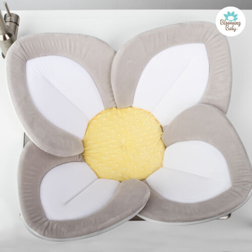Blooming Bath Lotus Baby Bath, Package Free,Bathing Mat,Flower Bath,White/Yellow