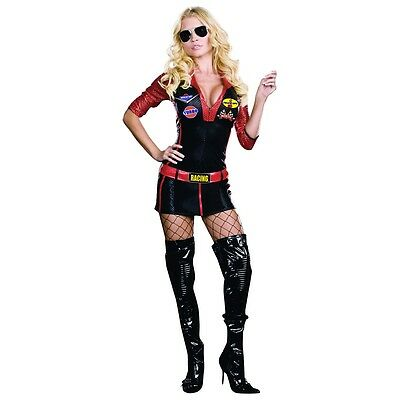 Race Car Driver Costume Adult Sexy Halloween Fancy Dress