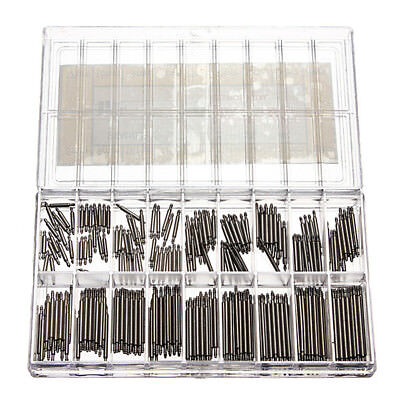 (360pcs Watchmaker Watch Band Spring Bars Strap Link Pins Steel Repair Kit 6-23MM)