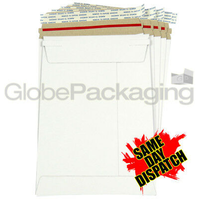 10 x Strong C5 / A5 Size ALL BOARD White Postal Mailing Envelopes 229x162mm