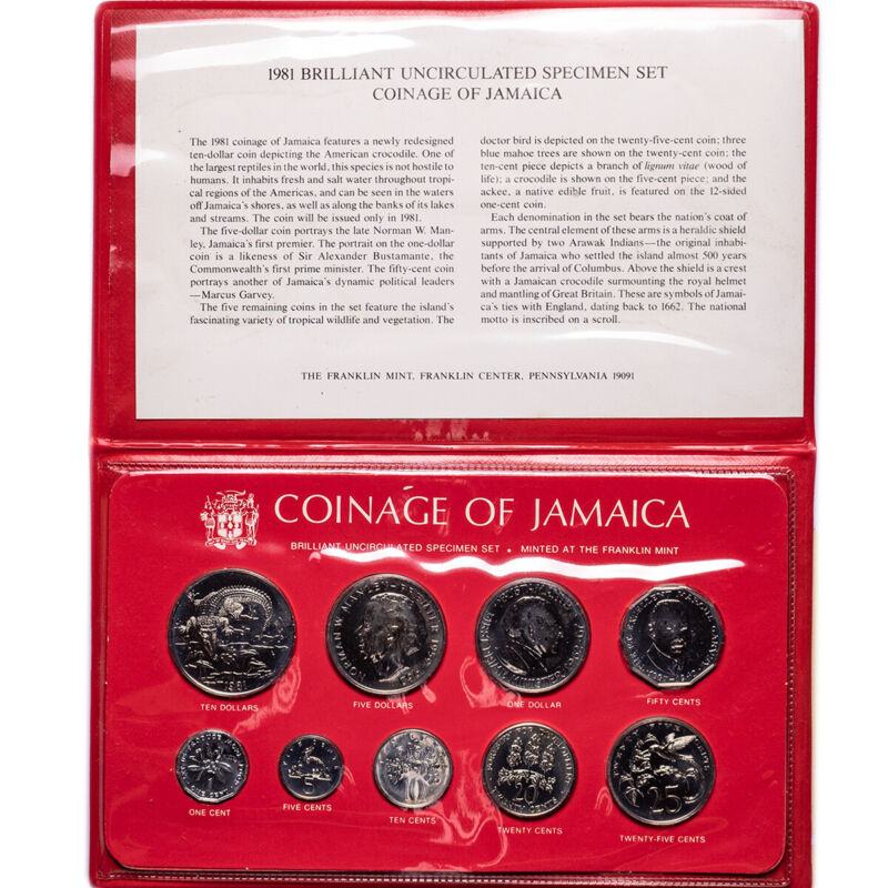 1981 Jamaica 9-Coin Uncirculated Specimen Set