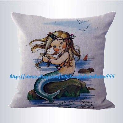 US SELLER-  art little mermaid cushion cover cheap cushion covers ()