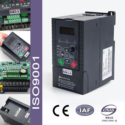 1.5kw Vfd Drive Inverter 2hp 7a 220vac Single Phase Variable Frequency Vsd