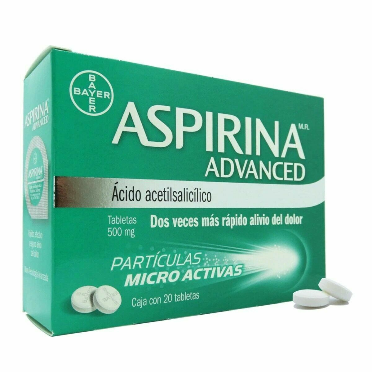 Aspirina / Aspirin Advanced 500 mg -20 tablets