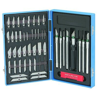 56pc Precision Hobby Knife Set Kit Exacto Knives Blades Craft Razor Scrapbooking