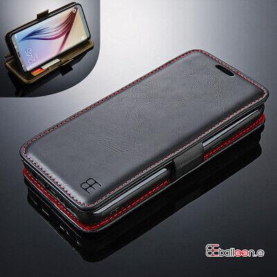 Leder Wallet Case Samsung Galaxy S10 S9 Plus Tasche Flip Handy Etui Schutz Hülle - Samsung Galaxy Wallet