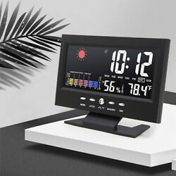 Led Digital Projection Alarm Clock Loud Snooze Calendar Weather Display